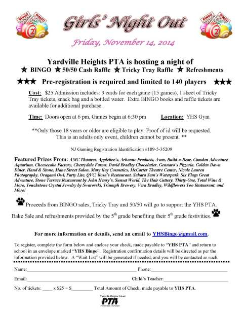 Bingo Registration Flyer (2)